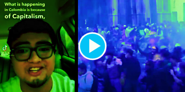 WATCH: Anti-Government / Anti-Capitalist Protestors In Colombia Clash With Police After Tax Increases Were Proposed…