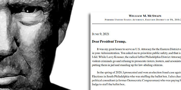 Trump releases letter showing how Bill Barr pressured the US Attorney in PA to NOT investigate Voter Fraud…