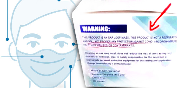 Face Masks Mandated By UK Government Specifically Say They Don't Protect Against COVID-19…