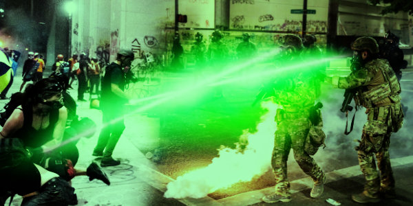 3 federal officers in Portland In Danger of permanently losing eyesight after rioters shined lasers in their eyes…