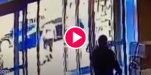 Black Man Bootstomps Elderly Asian Woman in NY Street… Black Security Guard Responds By Closing Door…
