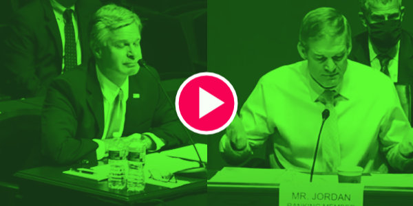 """WATCH: """"Freedom is under attack, and director, a lot of Americans think you're part of the problem""""… Jim Jordan Grills FBI Director Christopher Wray…"""